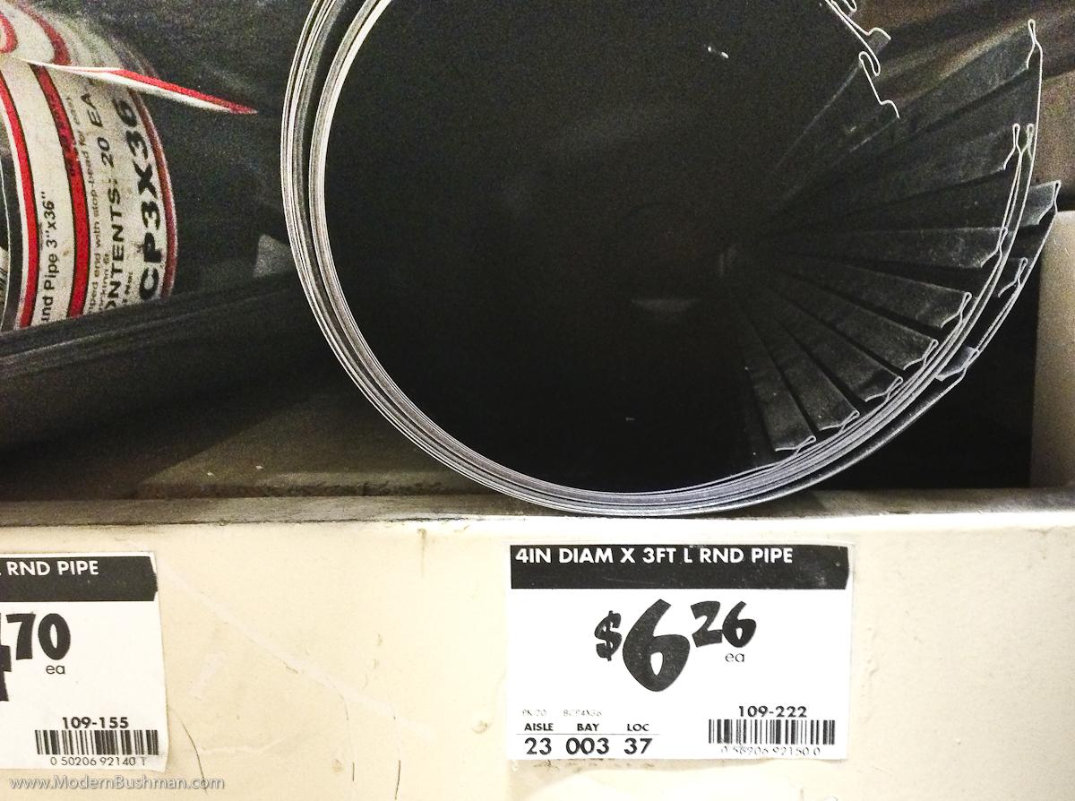 DIY Low Waste Chicken Feeder – 4″ x 3ft round pipe